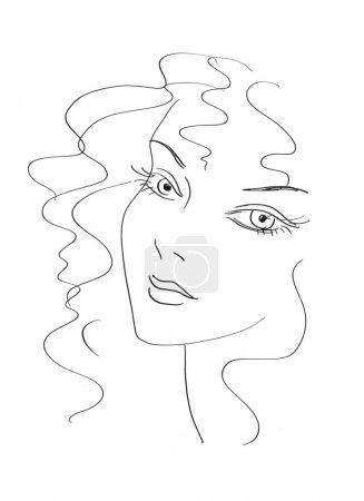 Photo for Beautiful woman sketch - Royalty Free Image