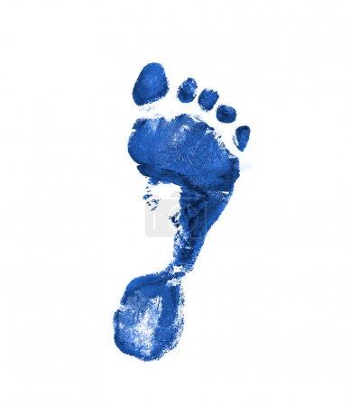 Photo pour Empreinte bleu foncé - image libre de droit