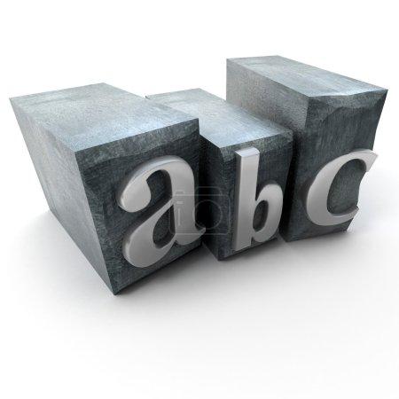 Alphabet in print letter cases