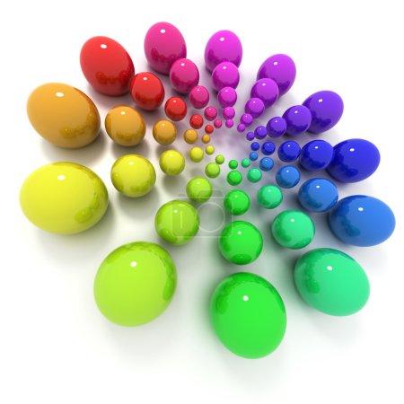 Photo pour Cercle de billes avec différentes tailles et couleurs - image libre de droit