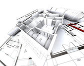 Appartment mockup and blueprints