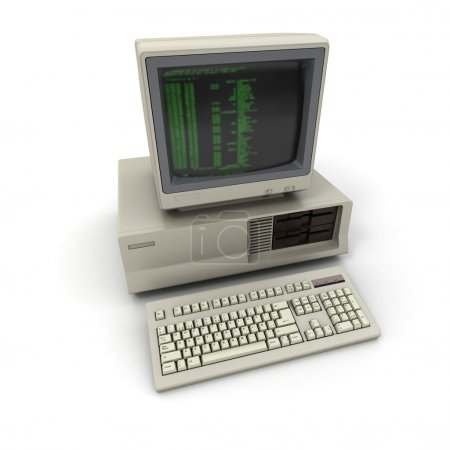 3D rendering of a vintage personal computer...