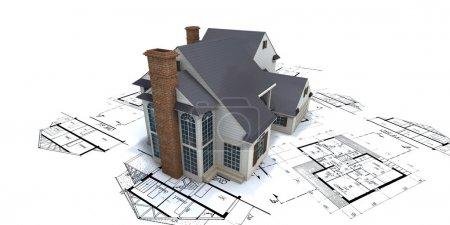 Residential house architect blueprints