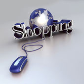 Global Shopping in blue