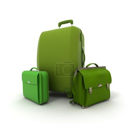 Green baggage set