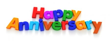 Happy Anniversary in colourful