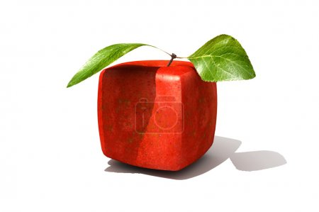 Cubic red apple