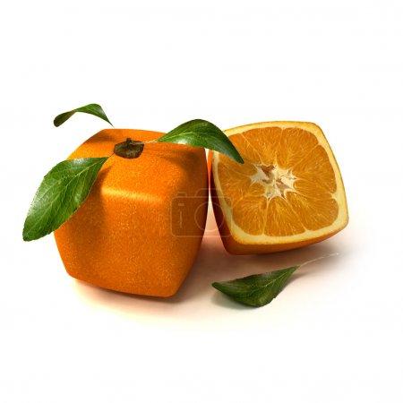 frische natürliche kubische Orange