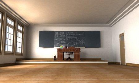 Photo pour Rendu 3D d'une salle de classe vide - image libre de droit