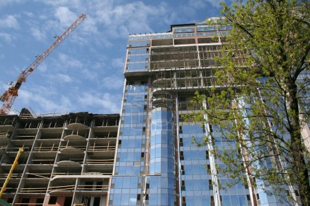 Photo for Construction of tall buildings - Royalty Free Image
