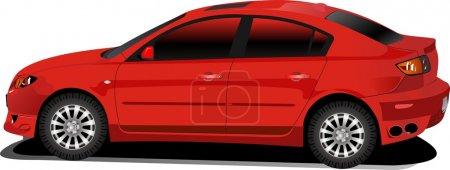 Illustration pour Belle voiture rouge. Image vectorielle - image libre de droit