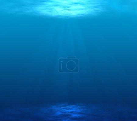Photo for Digitally made underwater scene - Royalty Free Image