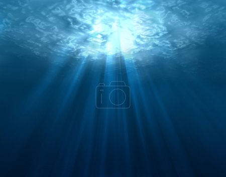 Photo for Digitally made underwater scene - Royalty Free Image