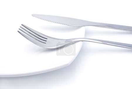Photo for Still life image of fork and knife. - Royalty Free Image