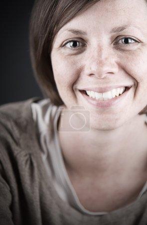 Brunette Lady Smiling