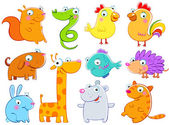 Lovely animals children's drawings the free technics
