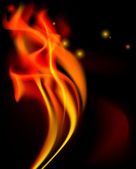 Fire illustration free space for your text