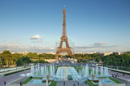 Photo for The Eiffel Tower seen from Trocadero, Paris, France. - Royalty Free Image