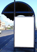 Bus stop with blank bilboard in Egypt