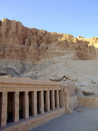 Hatshepsut's temple situated in the valley of the ...