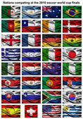 2010 world cup fabric flags