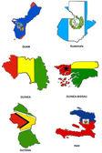 """Постер, картина, фотообои """"Всемирный Флаг карта стилизованные эскизы 13"""""""