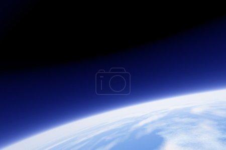 Photo pour Une image de la terre de son orbite - image libre de droit