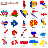 Non - EU countries flag maps