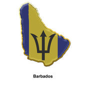 Barbados metal pin badge