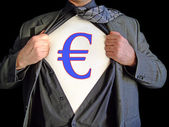 Superhero euro dollar