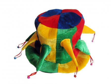Colorful hat with jingles...