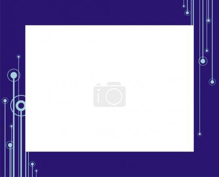 Photo pour Cadre décoratif pour une photo. Une composition abstraite en couleur. Il peut être appliqué à l'enregistrement des cartes de félicitations ou des photos . - image libre de droit
