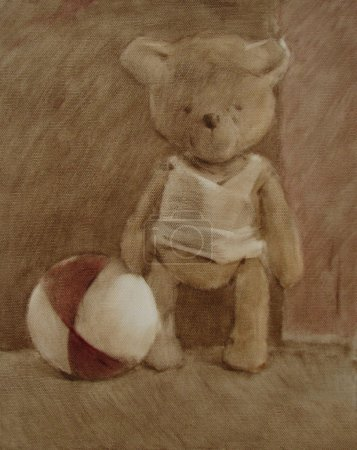 Teddy and ball