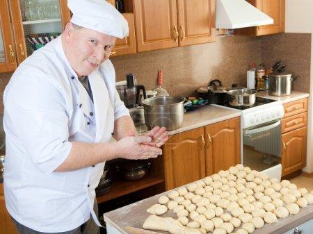 Cook man in kitchen