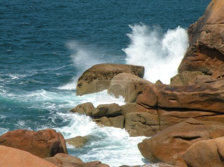 Ocean waves and rocky coast