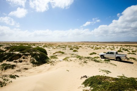 4x4 truck in dunes