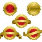 Set of award medals - vector illustrations...