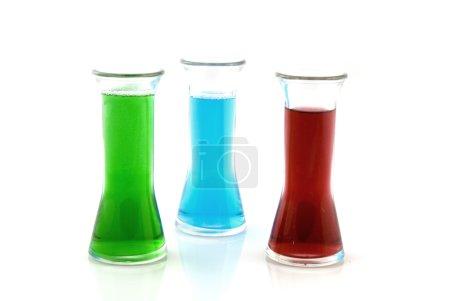 Colored liquid in glass