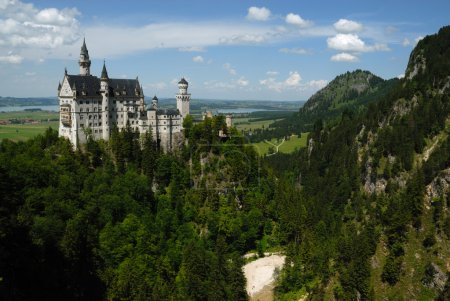 Photo for Castle Neuschwanstein in Schwangau Germany landscape - Royalty Free Image