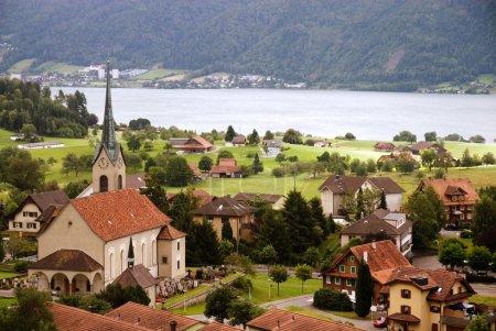 Typical village in Switzerland