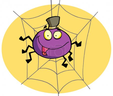 Photo for Cartoon spider - Royalty Free Image