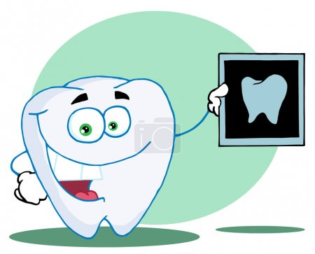 Happy Tooth With An Xray,background