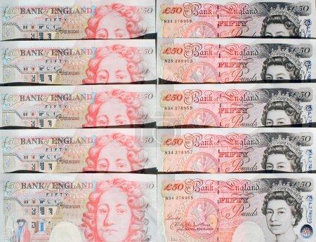 Photo pour Cinquante livres de notes - Grande-Bretagne - image libre de droit