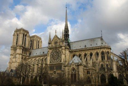 Photo pour Cathédrale Notre Dame, Paris, France - image libre de droit