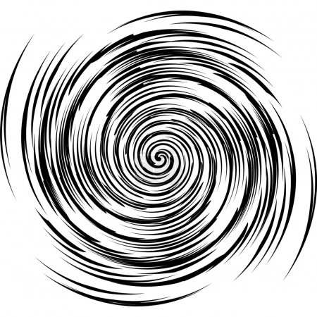 Illustration for Vector image of black and white spiral - Royalty Free Image