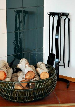 Basket and wood
