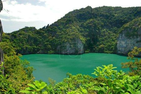 Photo pour Vert lac salé dans le centre de l'île thaïlandaise - image libre de droit