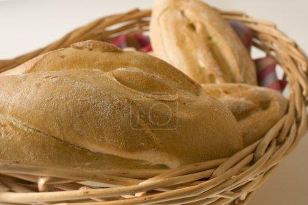 Rolls in bread basket