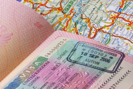 Passport and a road map