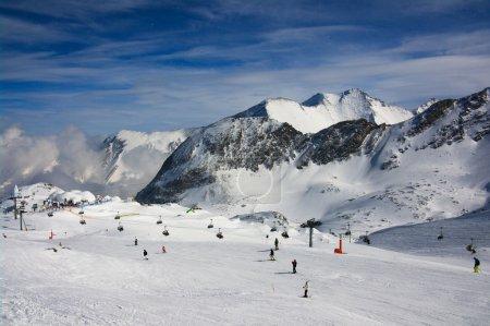 Alps winter mountain resort